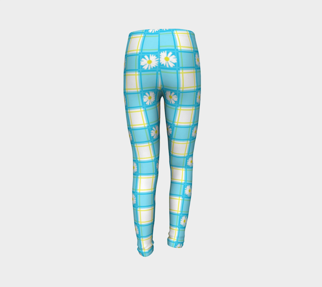 Daisies on Blue Gingham Plaid preview #7