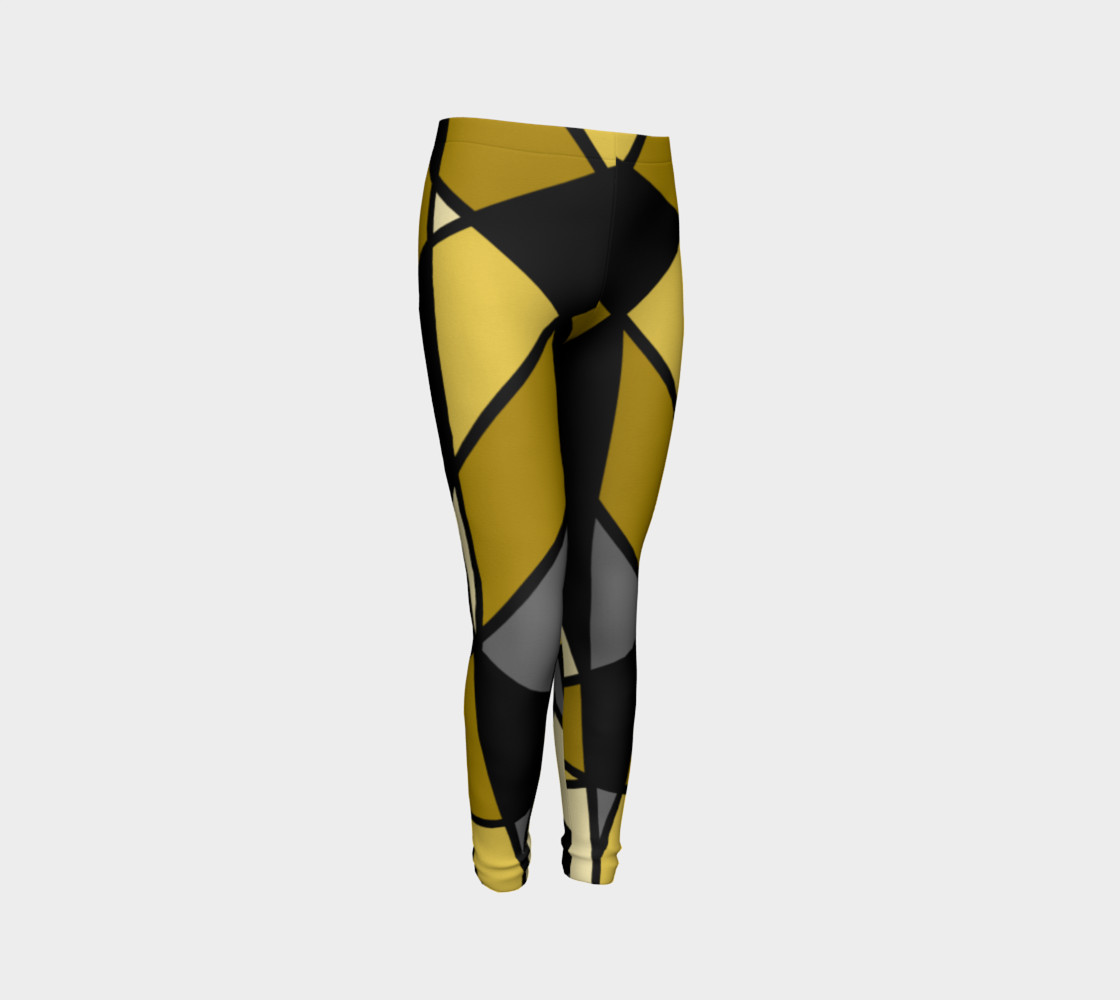 Modern Geometric in Yellow, Gray and Black preview #3