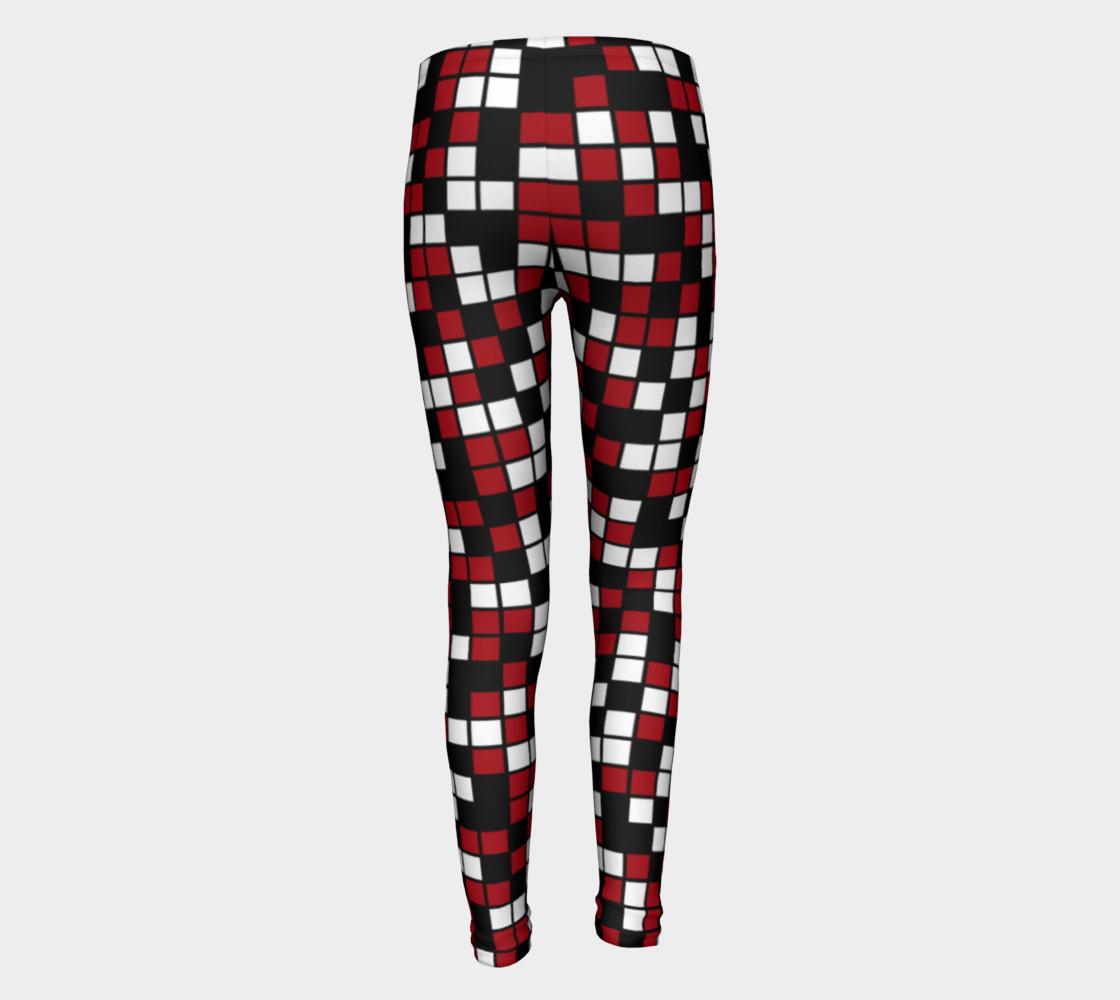 Aperçu de Dark Red, Black, and White Random Mosaic Squares #5