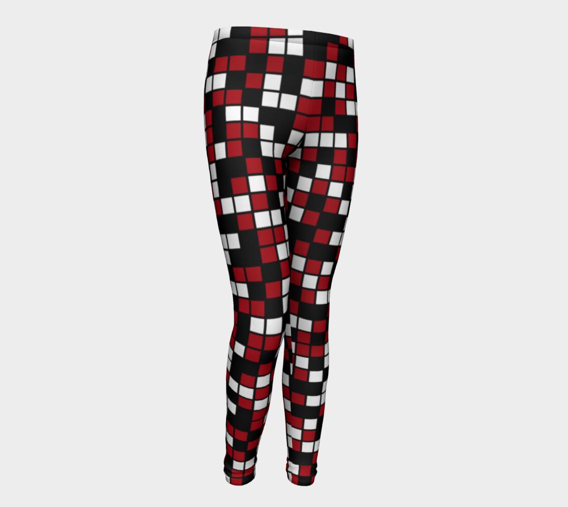 Aperçu de Dark Red, Black, and White Random Mosaic Squares #1