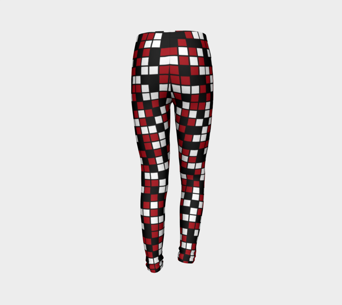 Aperçu de Dark Red, Black, and White Random Mosaic Squares #7