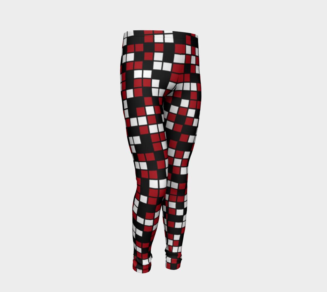 Aperçu de Dark Red, Black, and White Random Mosaic Squares #2