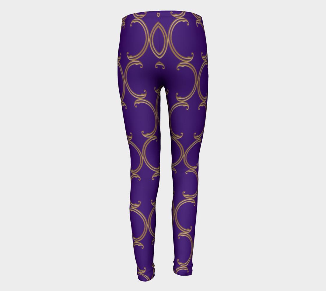 Moroccan Lattice in Purple and Faux Gold preview #5