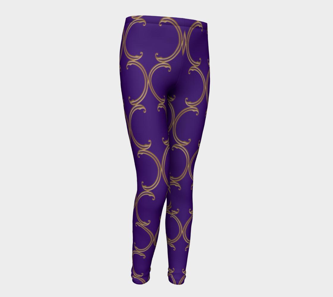 Moroccan Lattice in Purple and Faux Gold preview #1