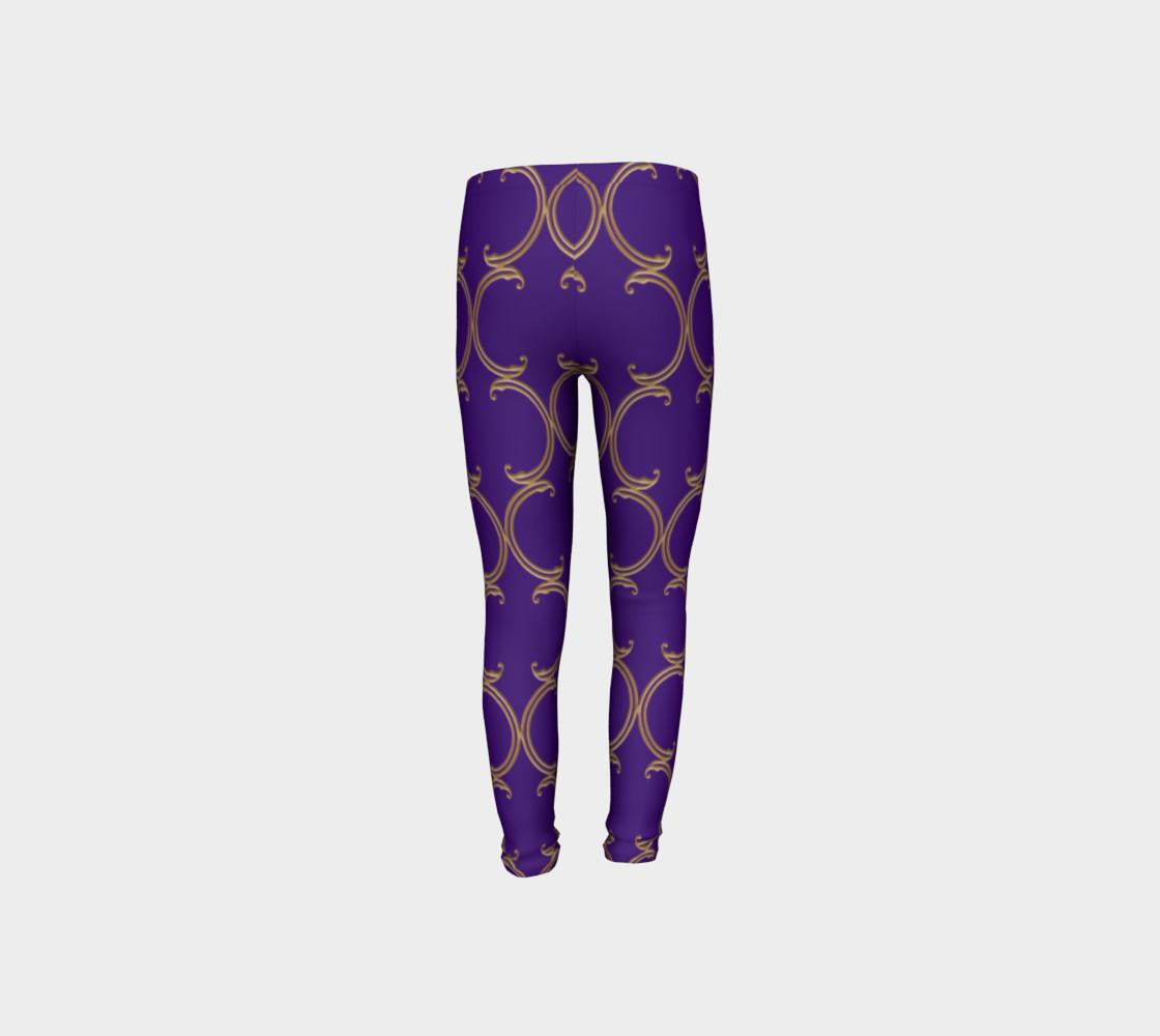 Moroccan Lattice in Purple and Faux Gold preview #8