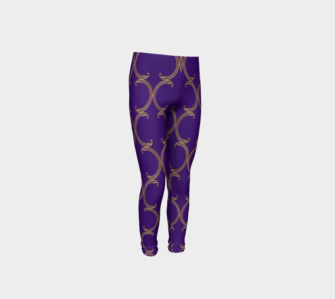 Moroccan Lattice in Purple and Faux Gold preview #4
