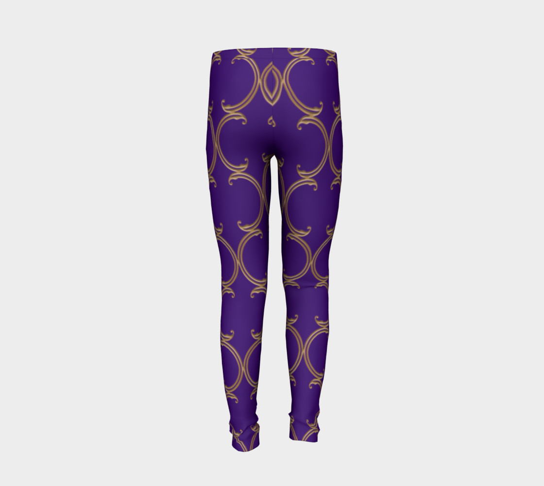 Moroccan Lattice in Purple and Faux Gold preview #6
