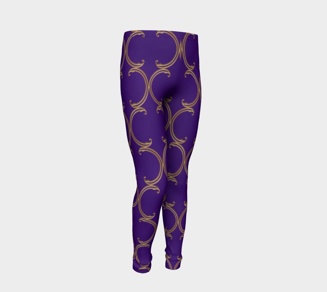 Moroccan Lattice in Purple and Faux Gold preview #2