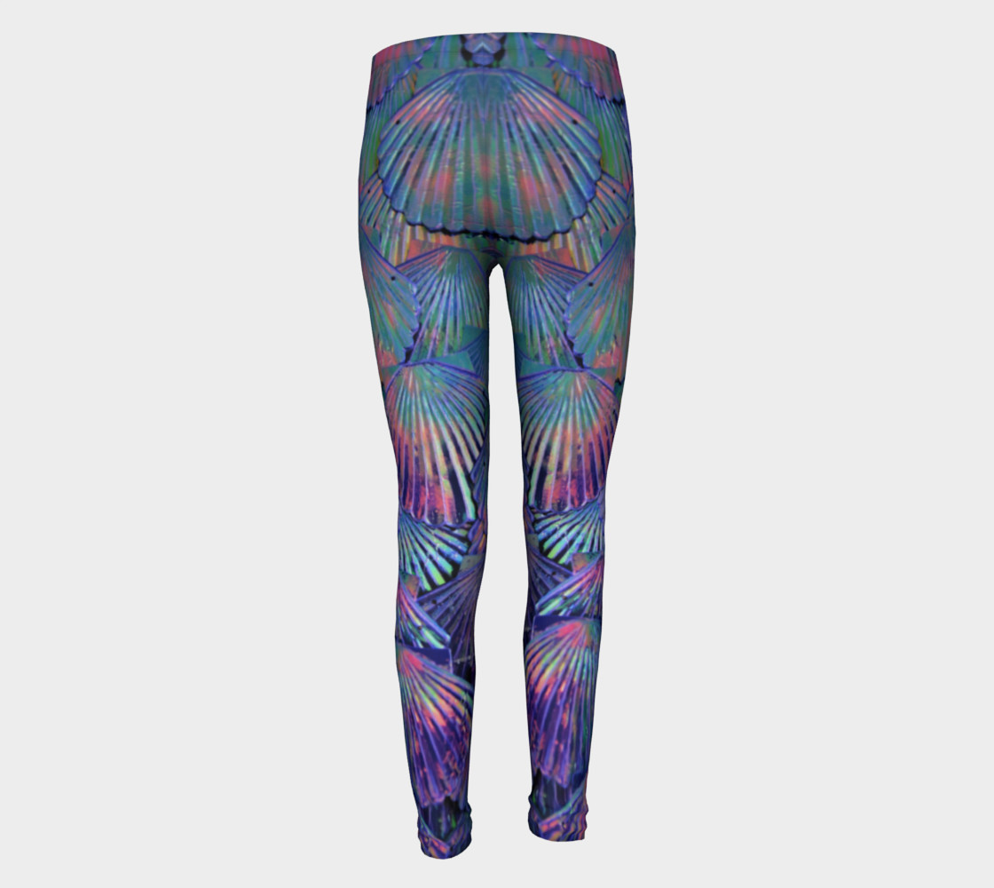 Opal Large-Scale Youth Mermaid Leggings preview #5