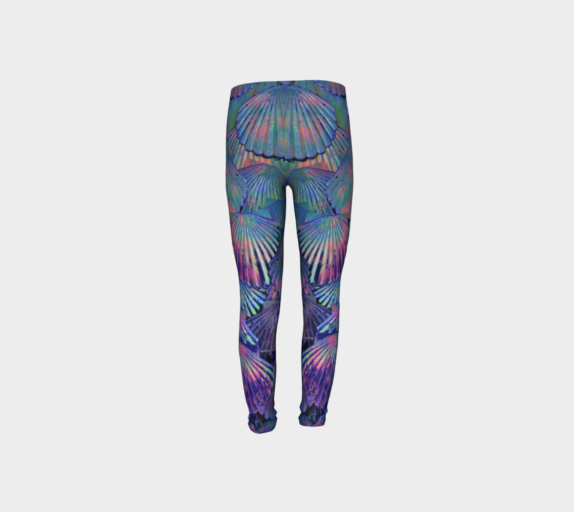 Opal Large-Scale Youth Mermaid Leggings preview #8