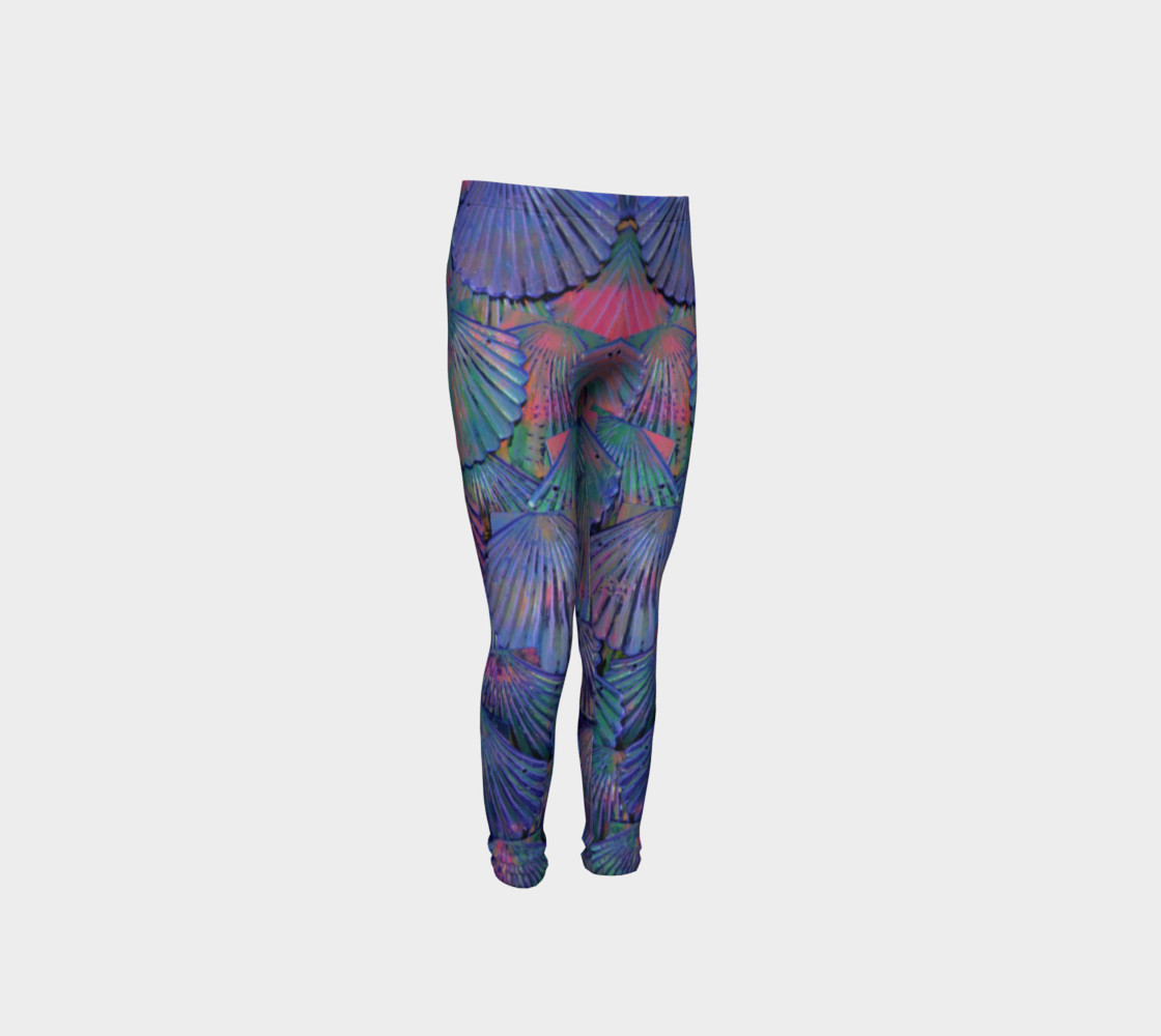 Opal Large-Scale Youth Mermaid Leggings preview #4