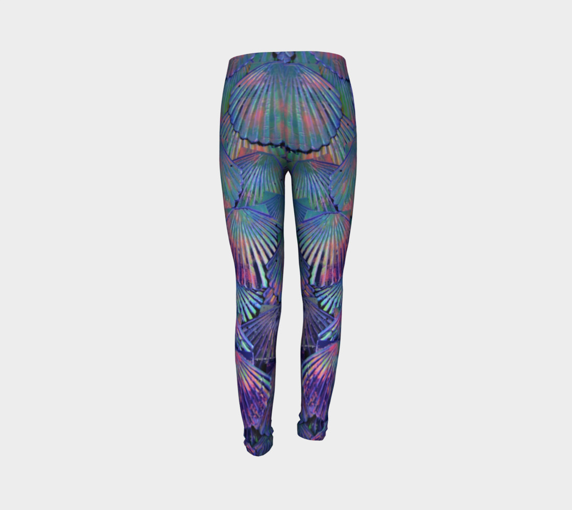 Opal Large-Scale Youth Mermaid Leggings preview #7