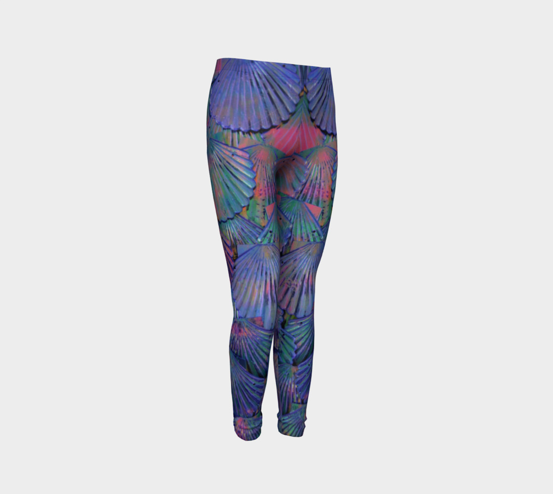 Opal Large-Scale Youth Mermaid Leggings preview #3