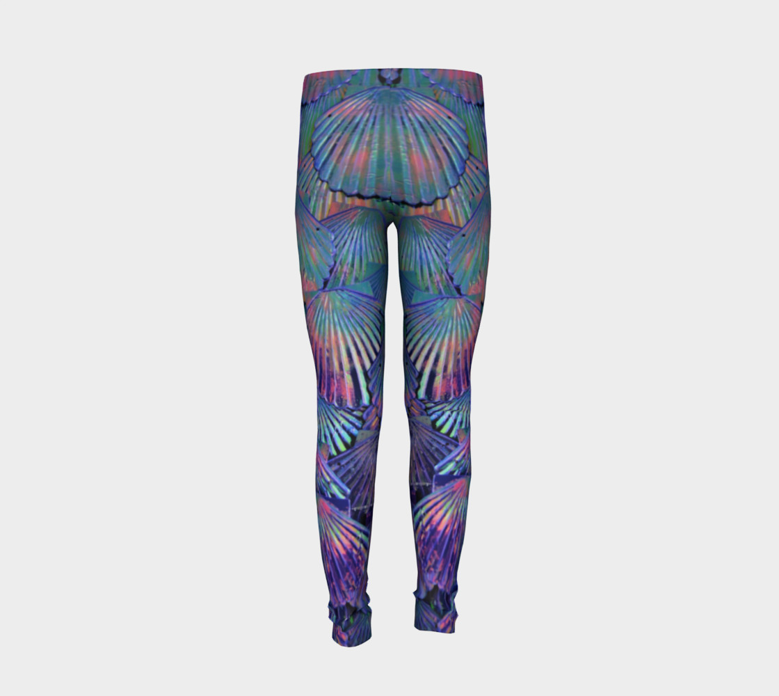 Opal Large-Scale Youth Mermaid Leggings preview #6