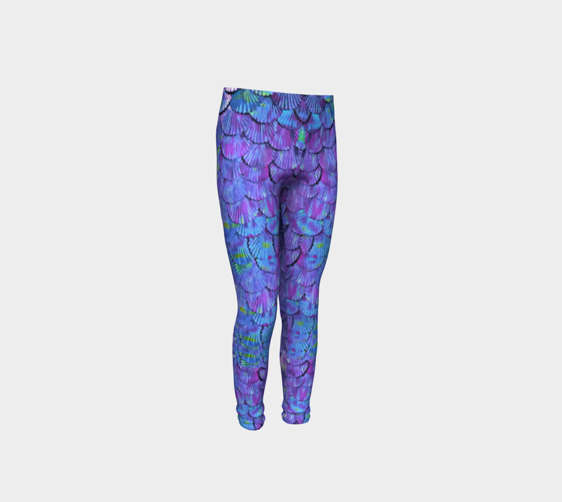 Youth/Child Lilac Mermaid Scale Leggings  preview #4