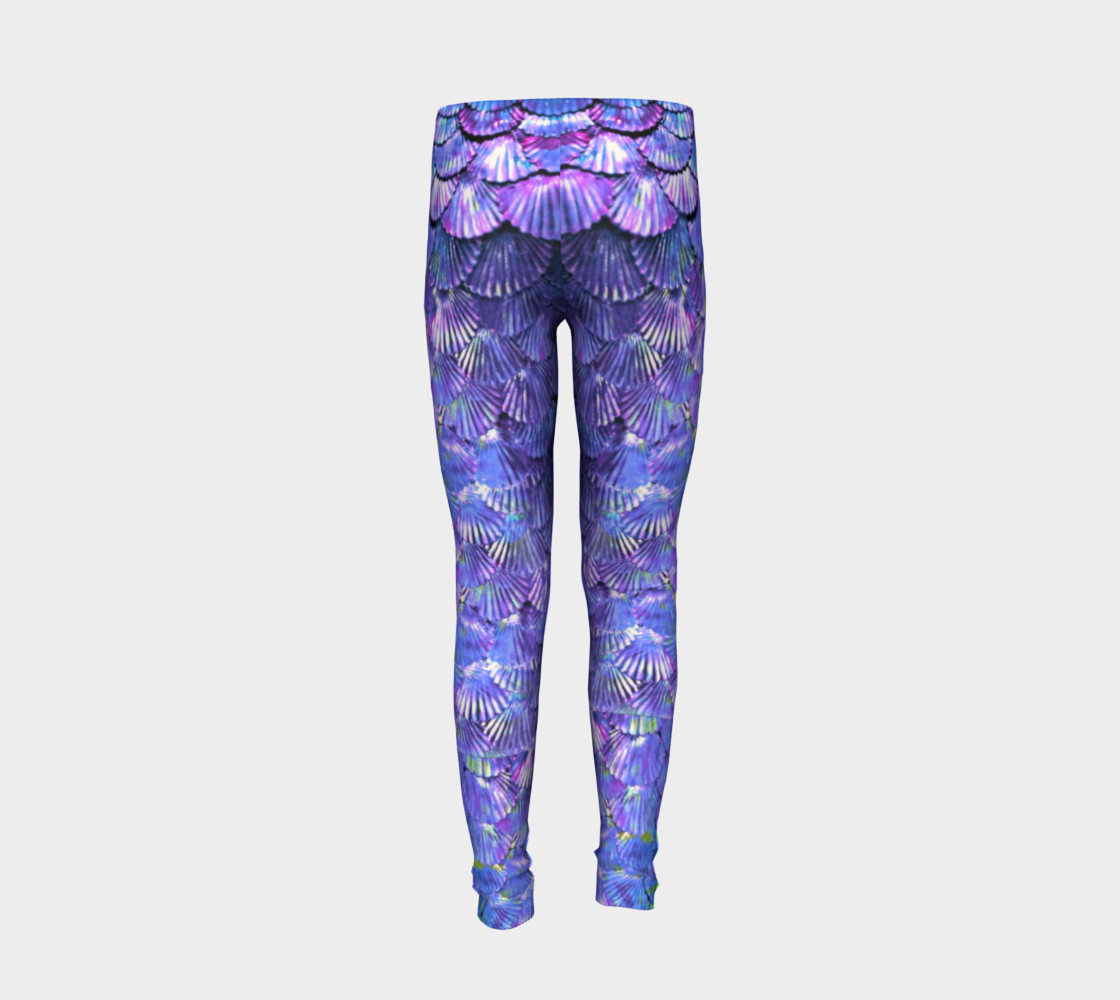 Youth/Child Lilac Mermaid Scale Leggings  preview #6