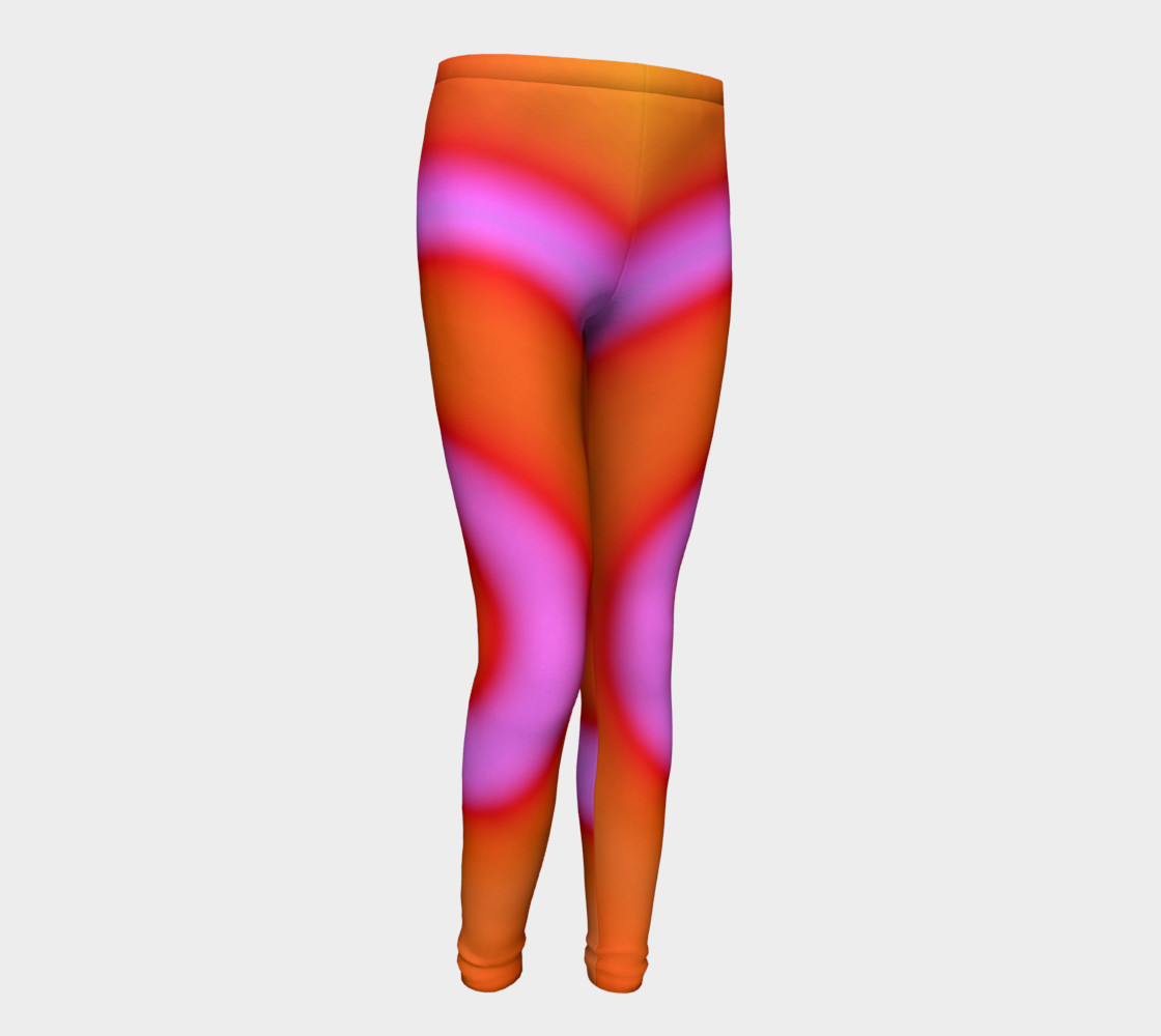 Aperçu de Bright Colorful Orange Pink Swirl Abstract #1