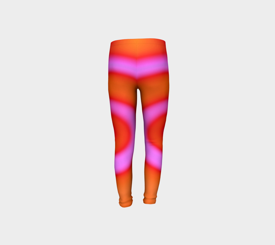 Bright Colorful Orange Pink Swirl Abstract preview #8