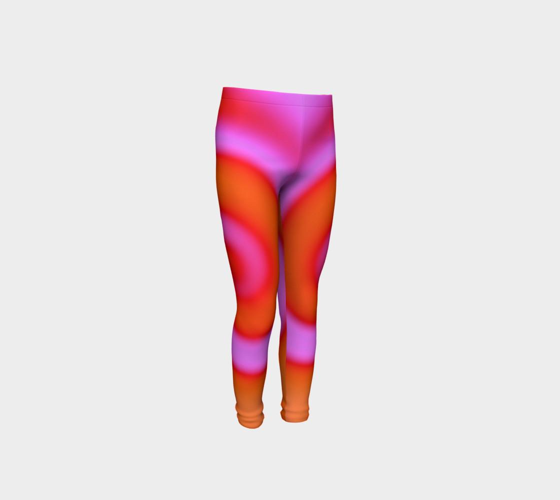 Aperçu de Bright Colorful Orange Pink Swirl Abstract #4