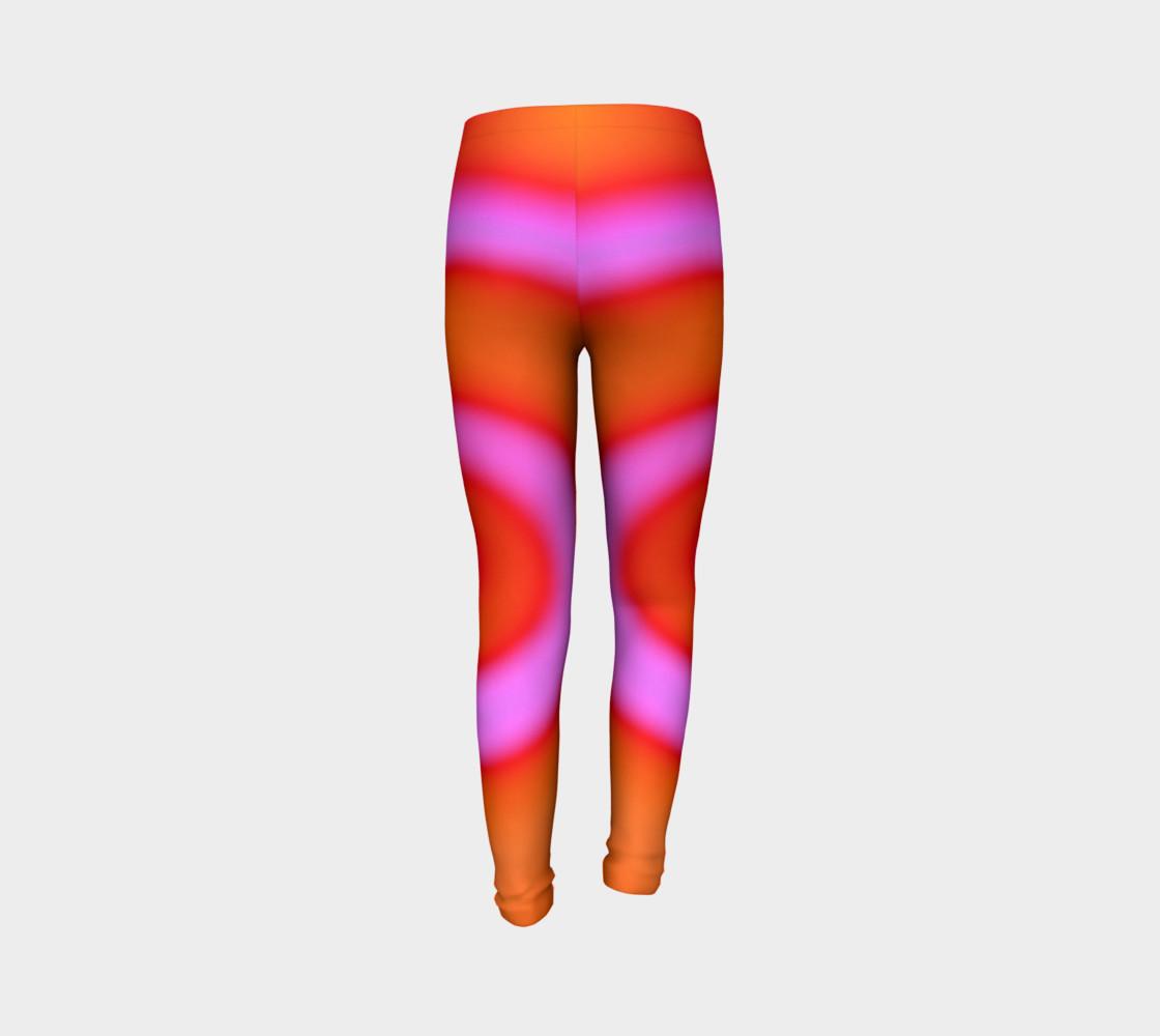 Aperçu de Bright Colorful Orange Pink Swirl Abstract #7