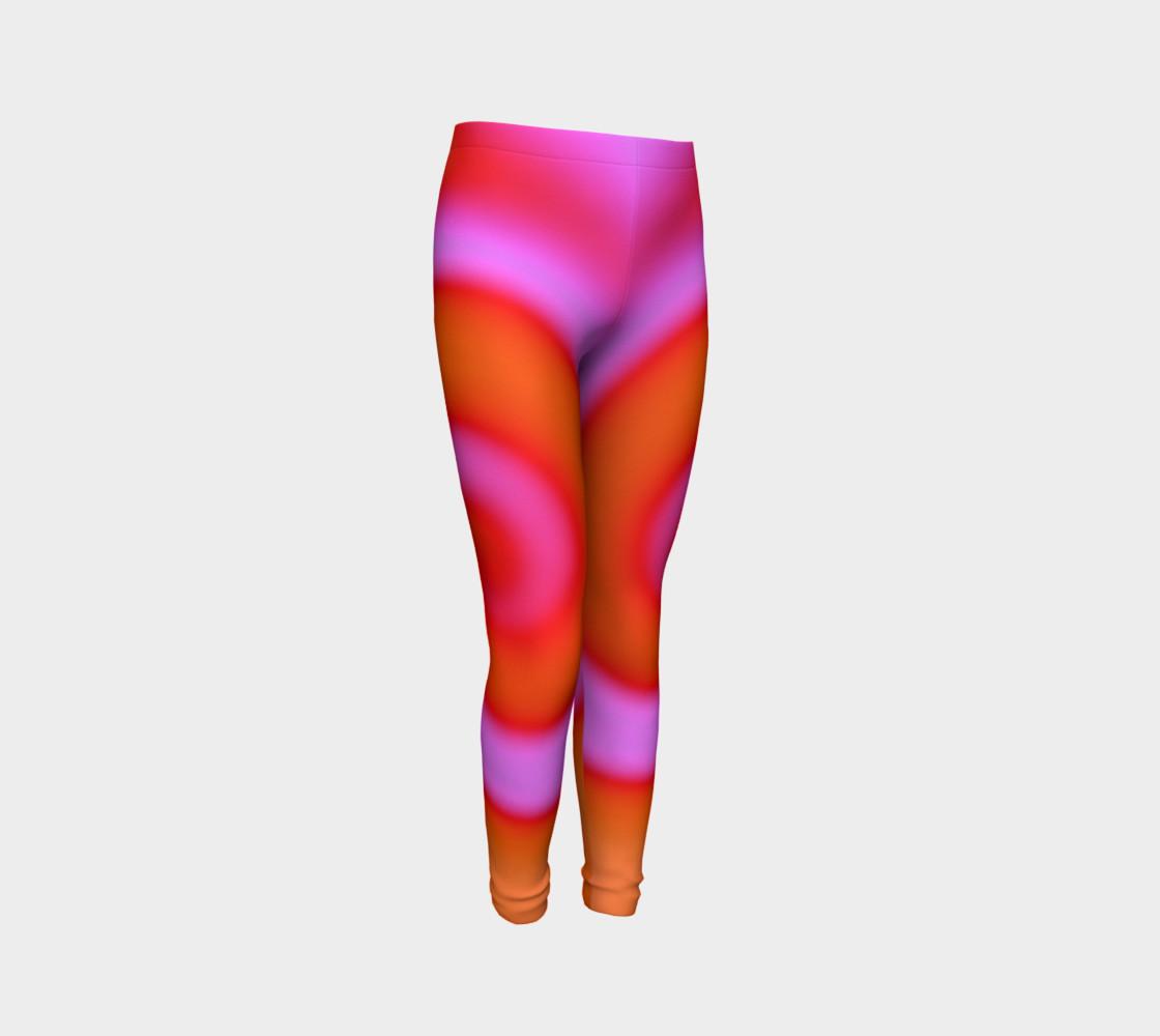 Aperçu de Bright Colorful Orange Pink Swirl Abstract #3