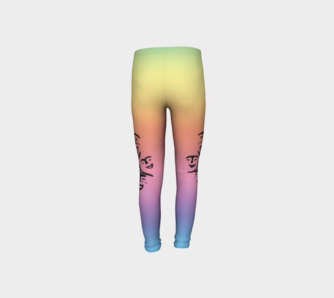 rainbow dancer petroglyph youth leggings preview #8