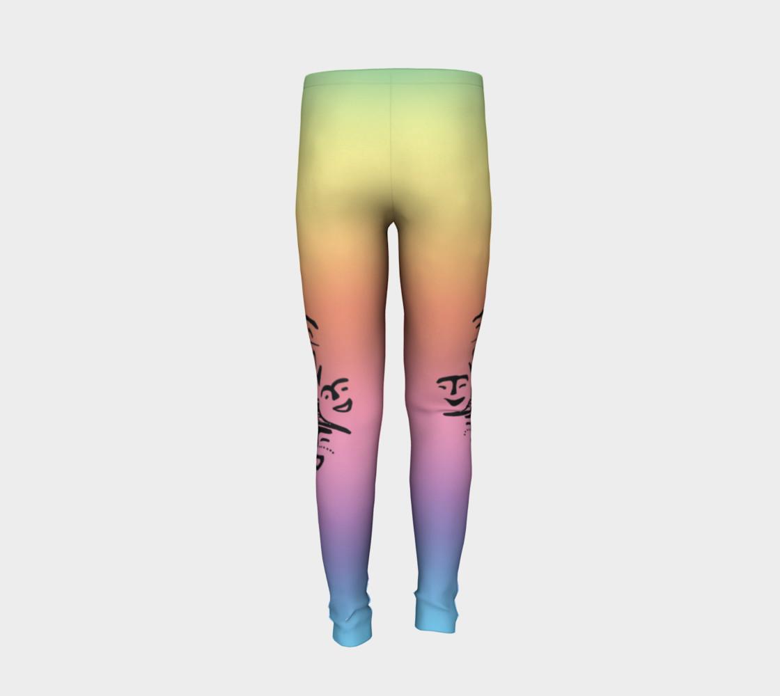 rainbow dancer petroglyph youth leggings preview #6
