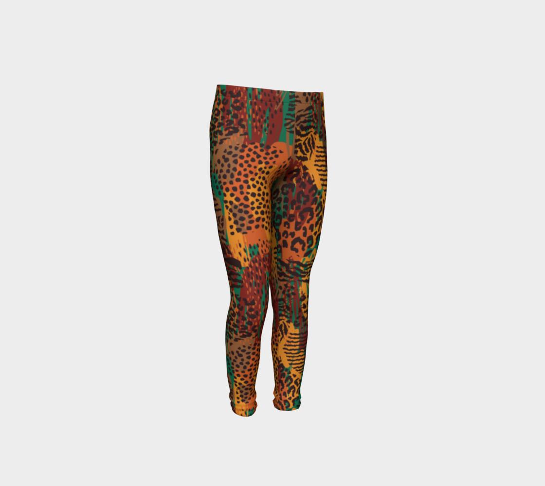 Safari Animal Print Mashup Youth Leggings preview #4