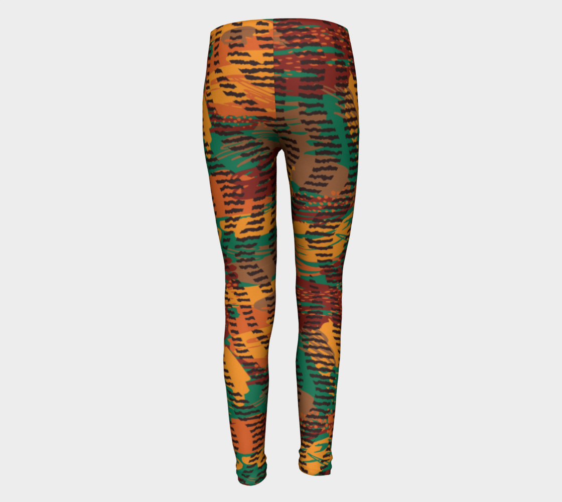 Abstract Animal Stripes Youth Leggings preview #5