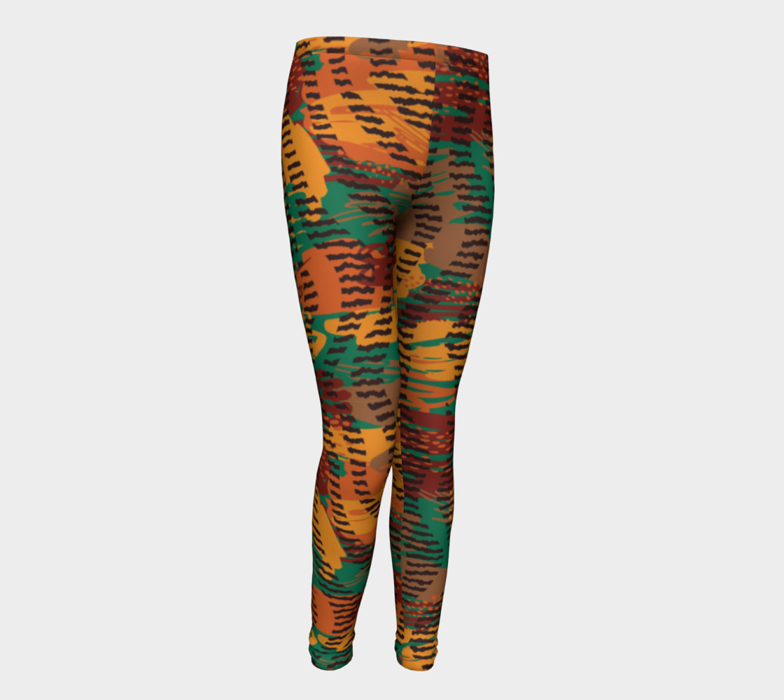 Abstract Animal Stripes Youth Leggings preview #1