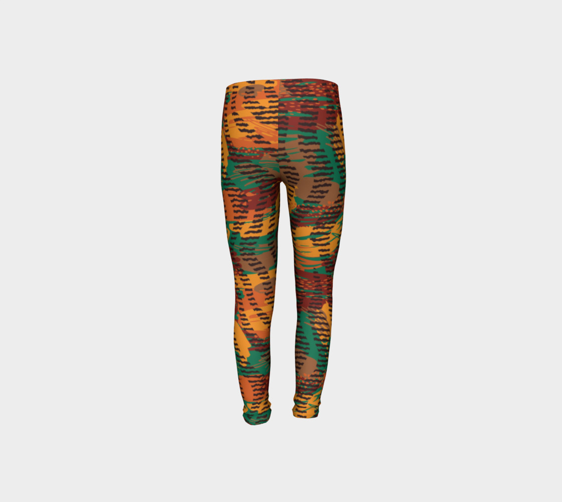 Abstract Animal Stripes Youth Leggings preview #8