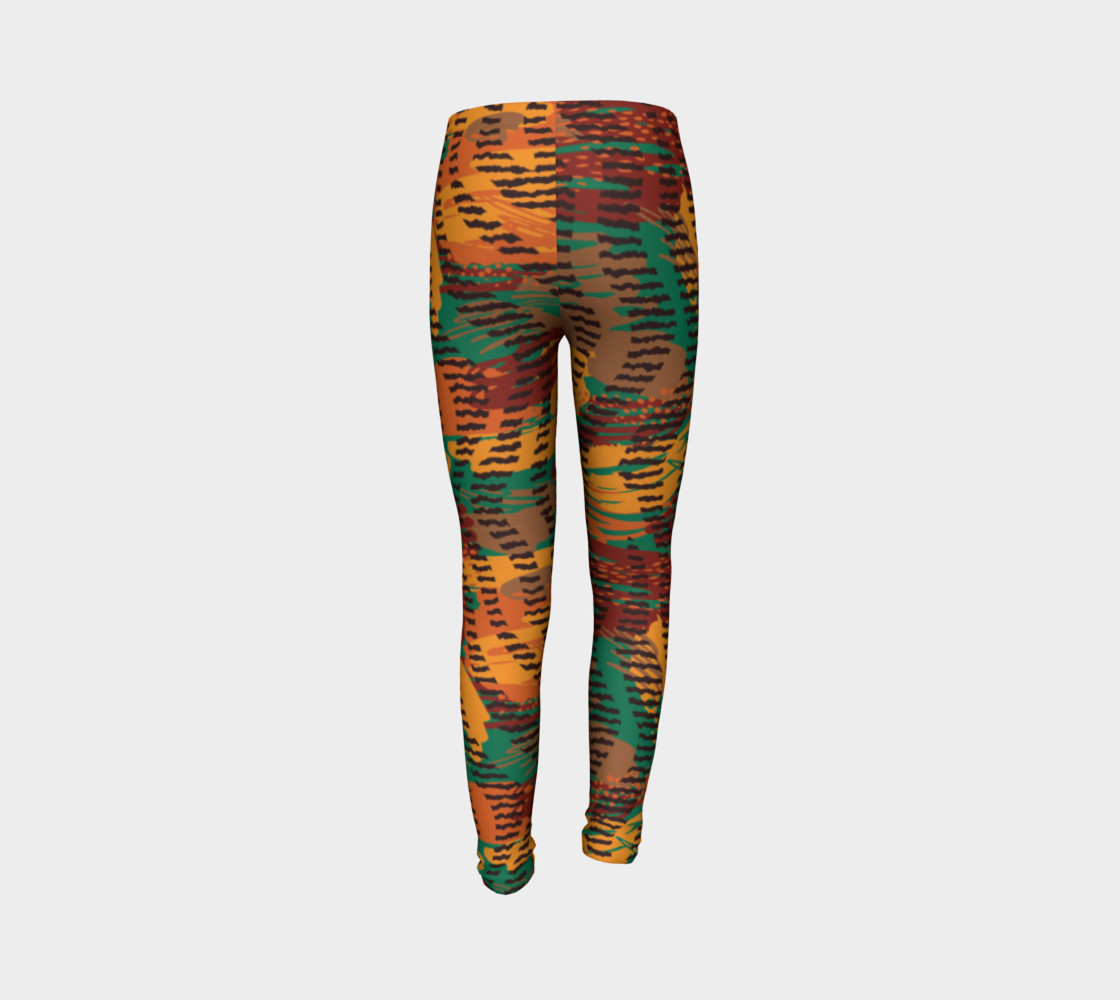 Abstract Animal Stripes Youth Leggings preview #7