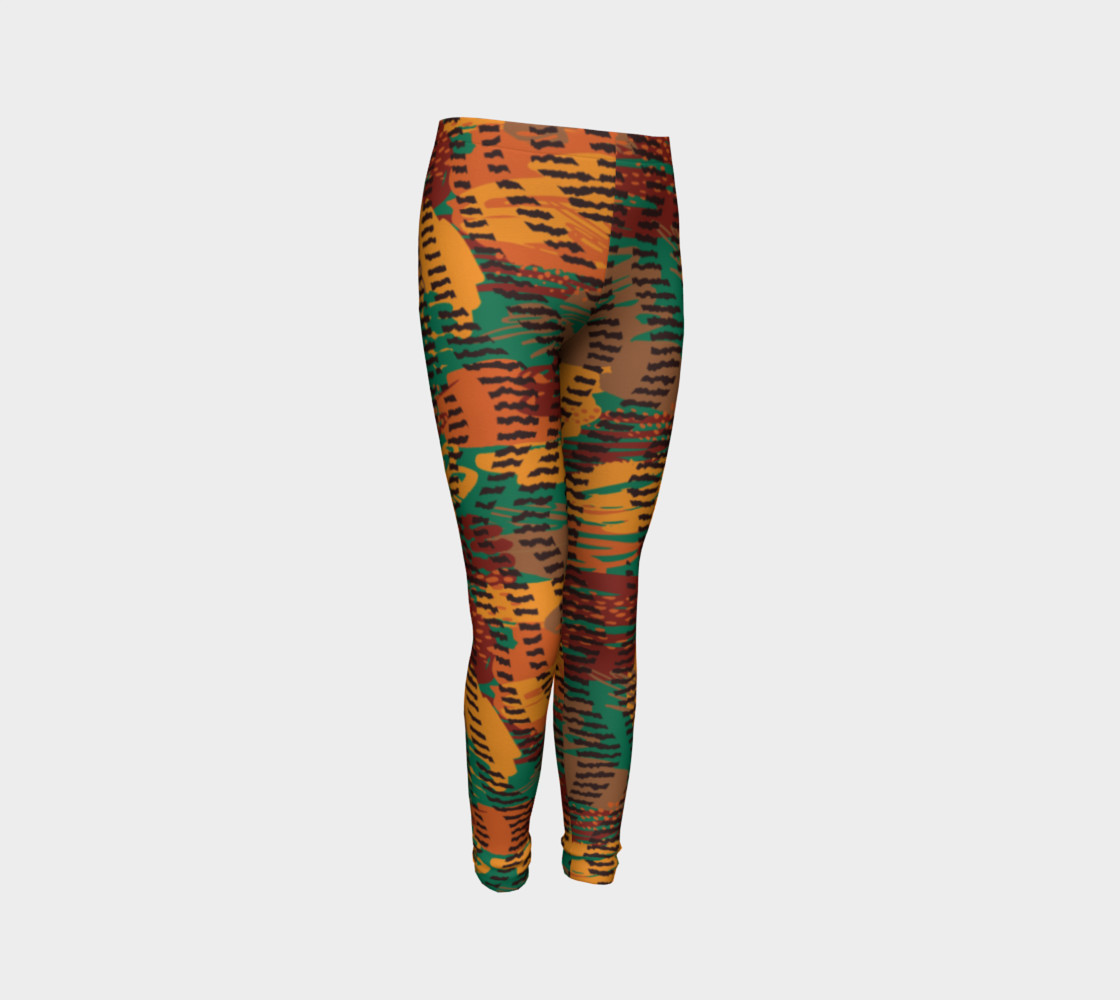 Abstract Animal Stripes Youth Leggings preview #3