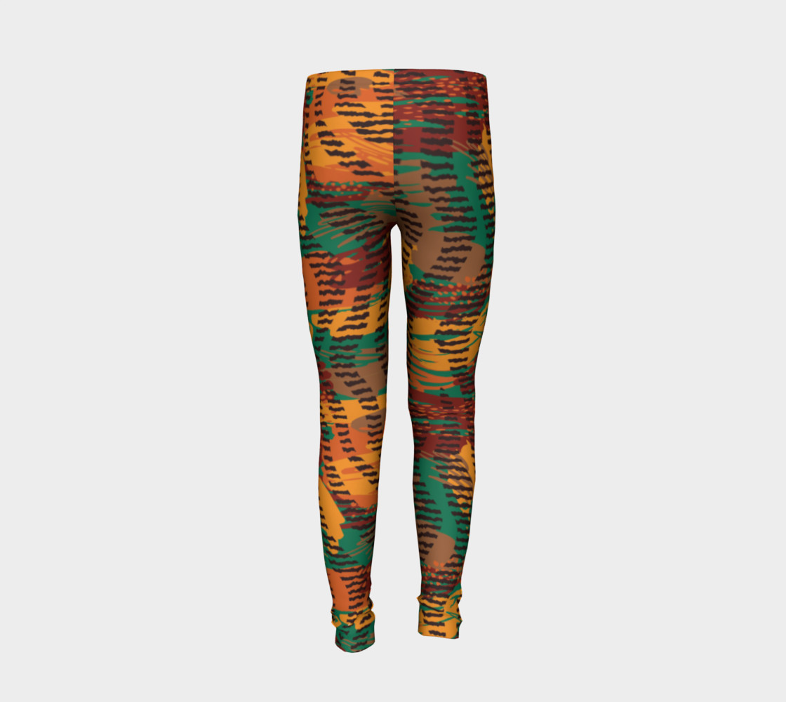 Abstract Animal Stripes Youth Leggings preview #6