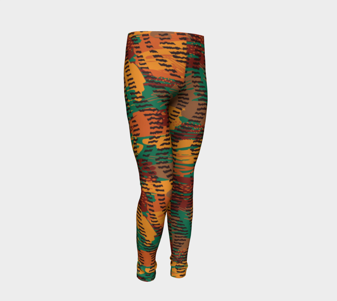 Abstract Animal Stripes Youth Leggings preview #2