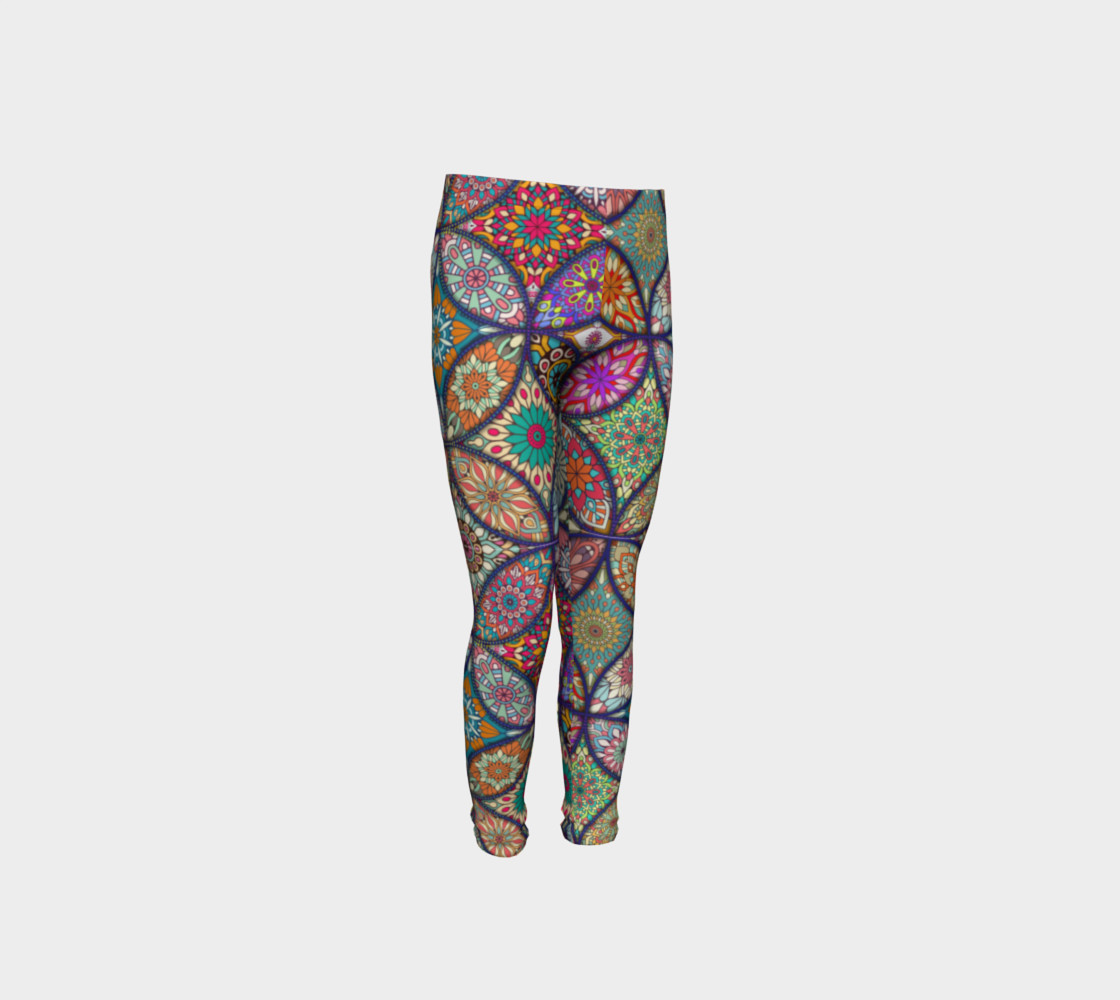 Vibrant Mandalas Youth Leggings preview #4