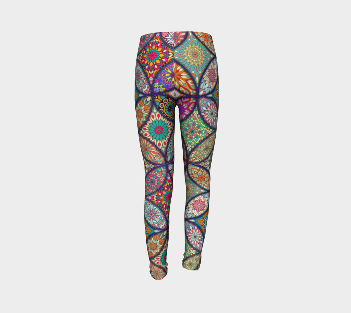 Vibrant Mandalas Youth Leggings thumbnail #8