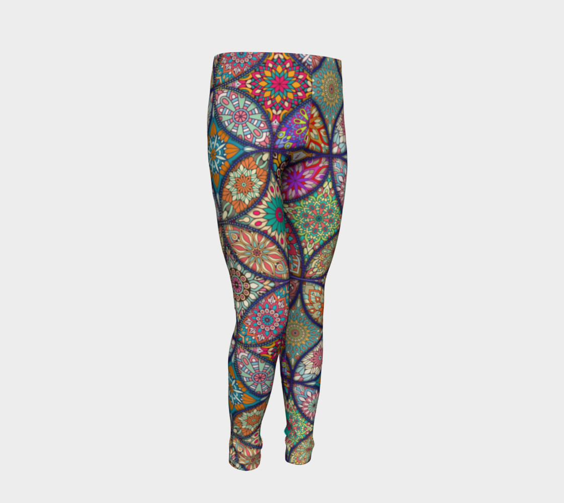 Vibrant Mandalas Youth Leggings thumbnail #3