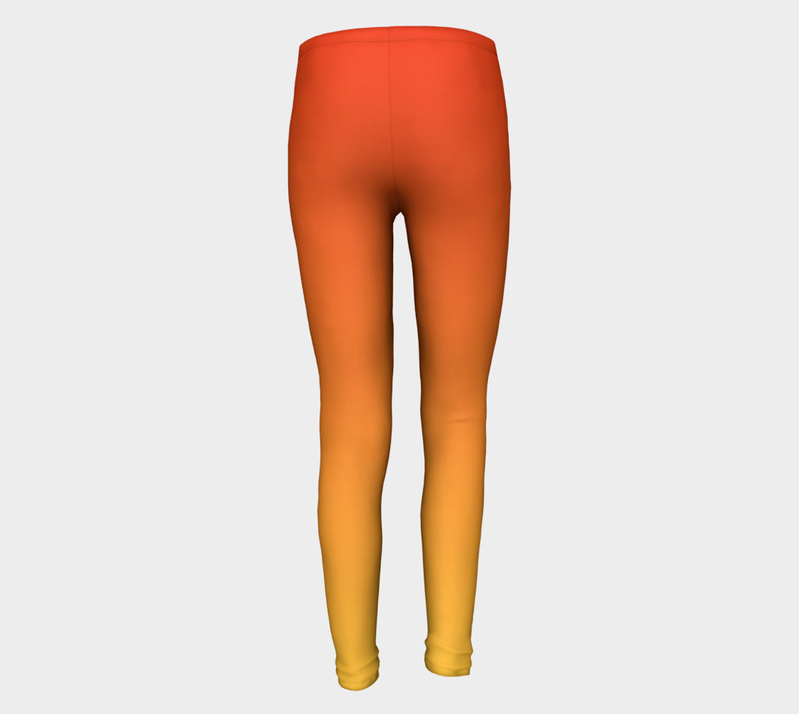 Fiery Sunset Youth Leggings preview #5