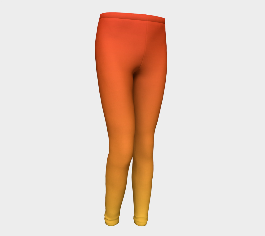 Fiery Sunset Youth Leggings preview #1