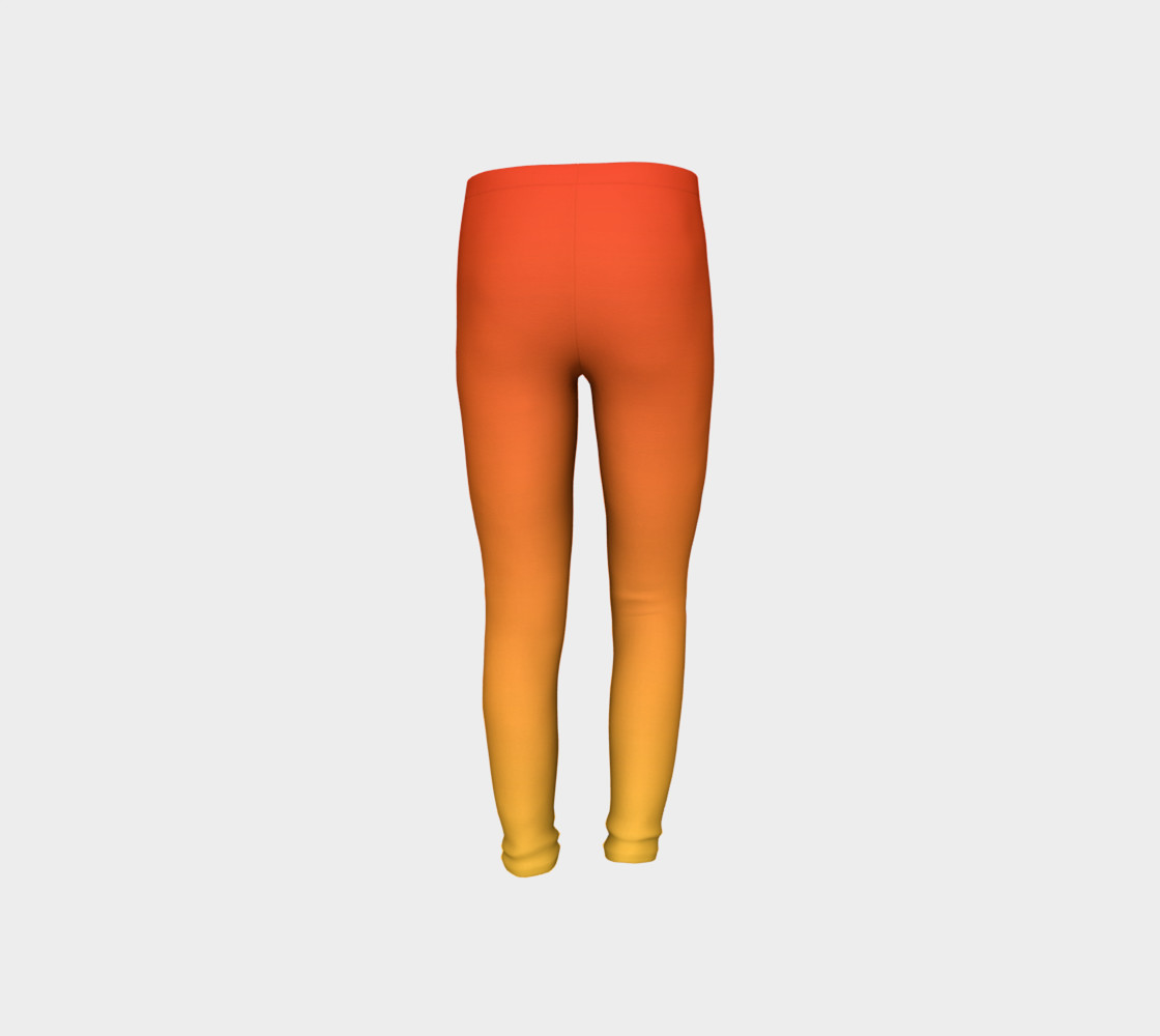 Fiery Sunset Youth Leggings preview #8
