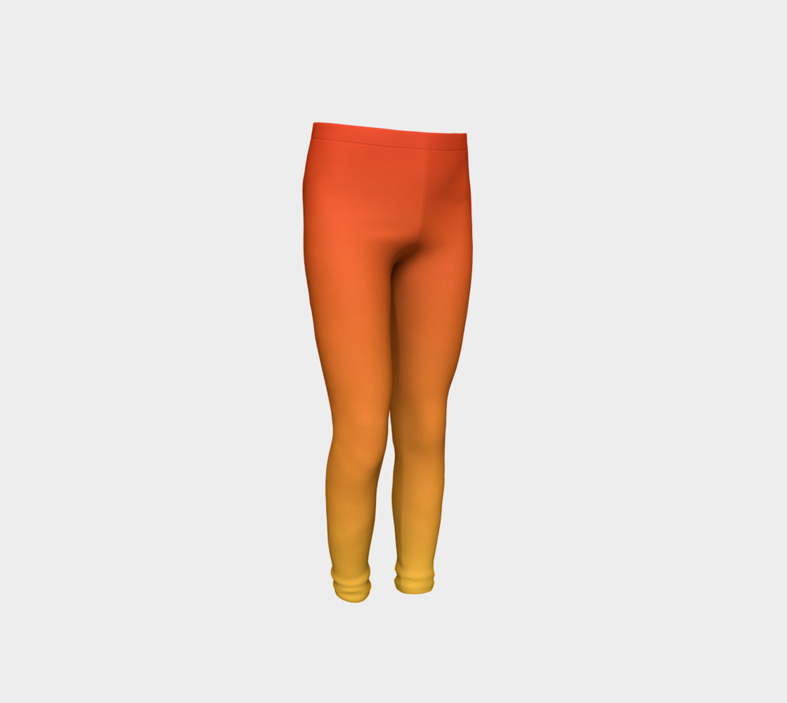 Fiery Sunset Youth Leggings preview #4