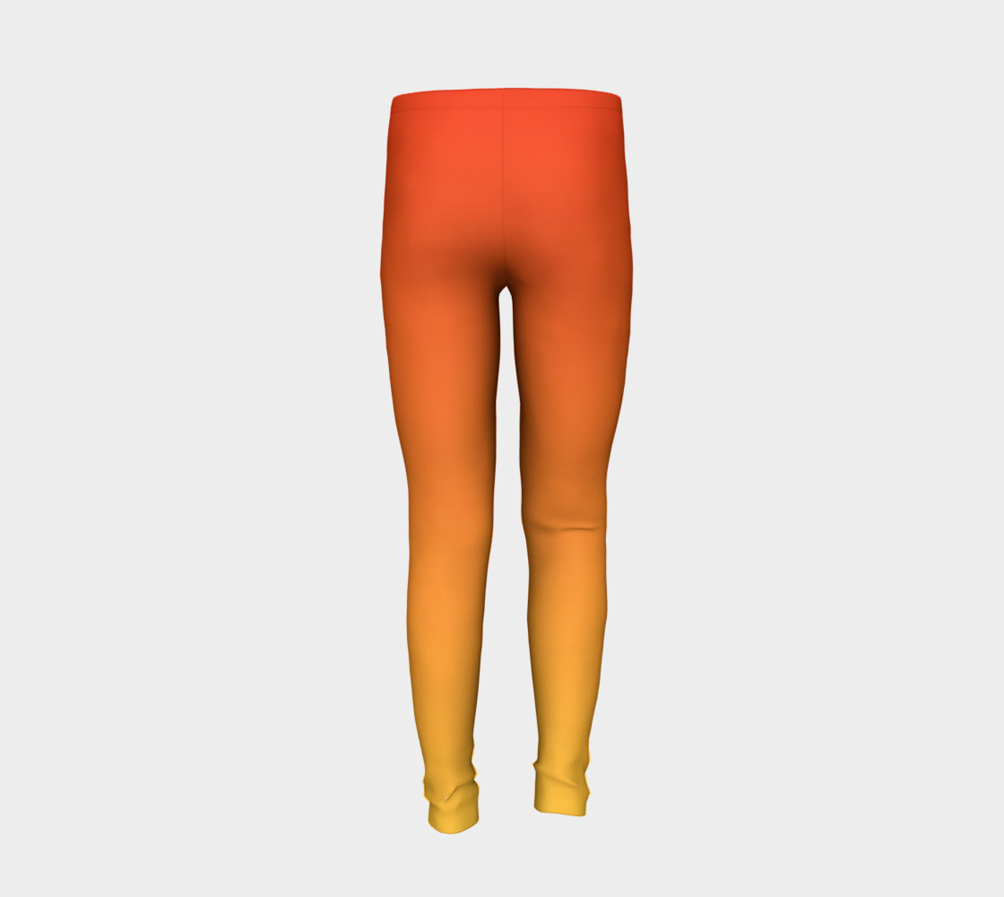 Fiery Sunset Youth Leggings preview #6