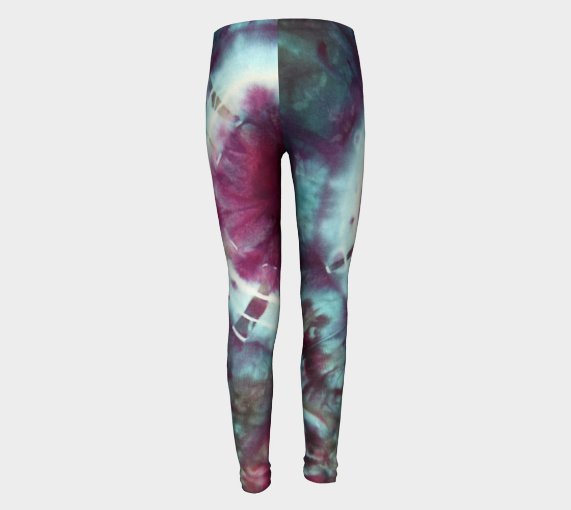 Pink Circles Youth Leggings preview #5
