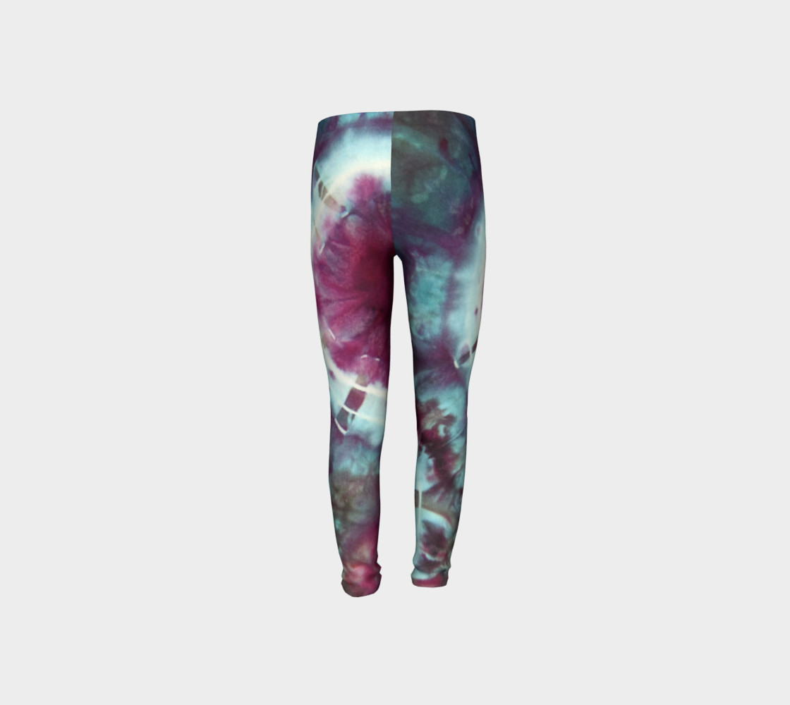 Pink Circles Youth Leggings preview #8