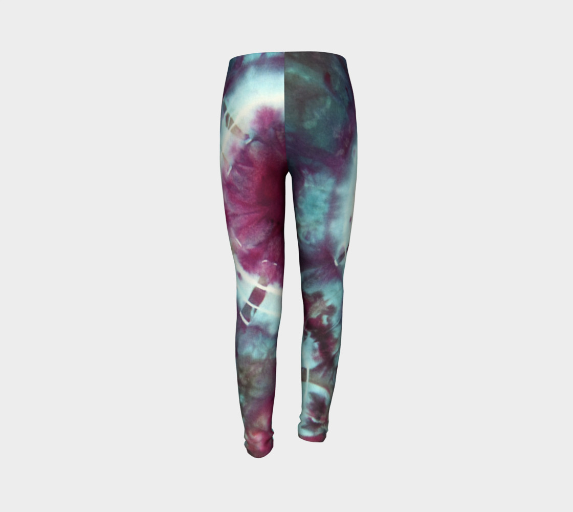 Pink Circles Youth Leggings preview #7