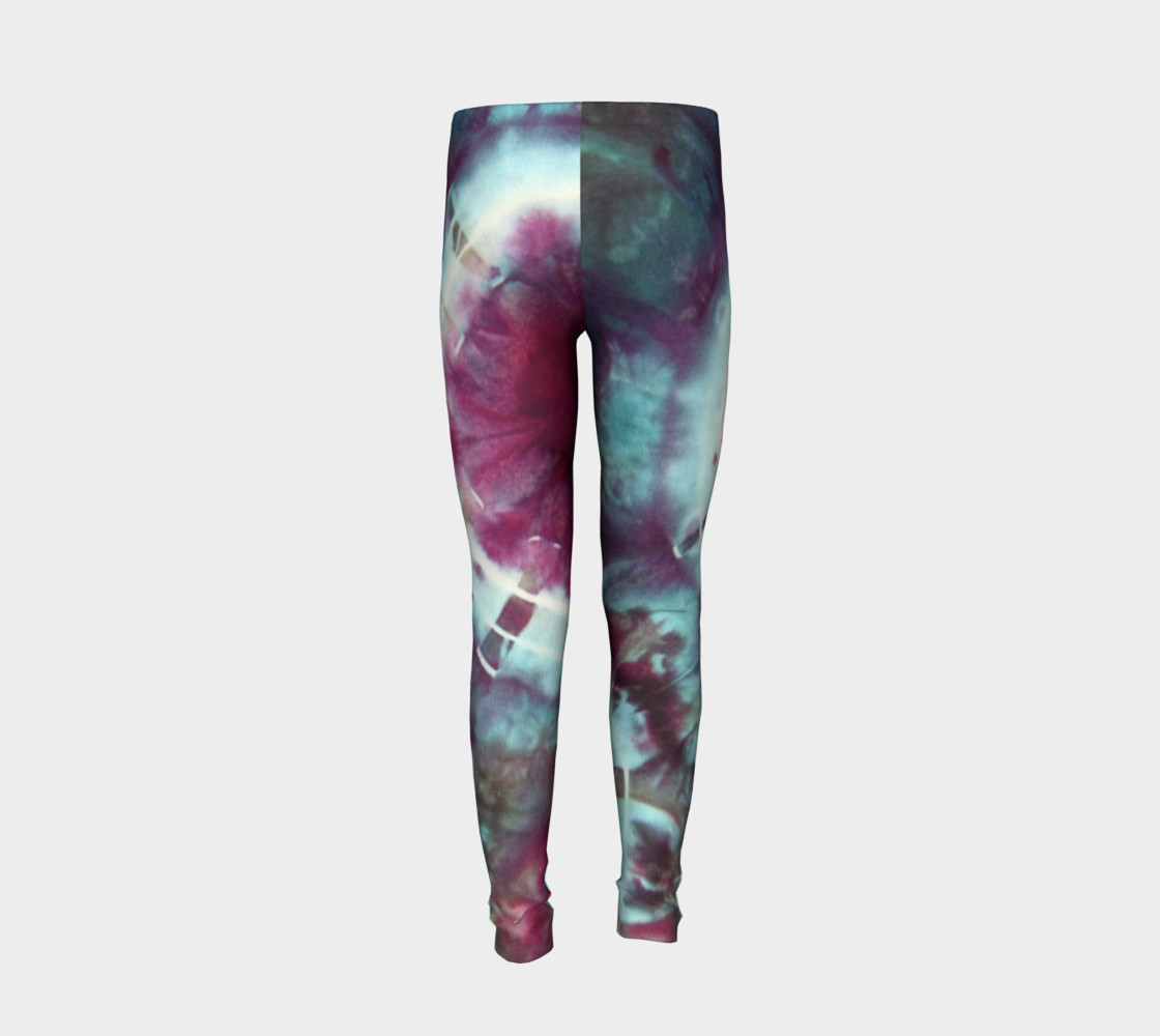 Pink Circles Youth Leggings preview #6