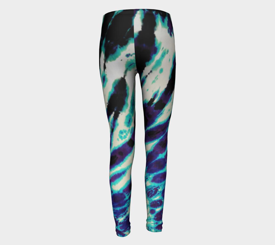 Tie Dye Youth Leggings preview #5