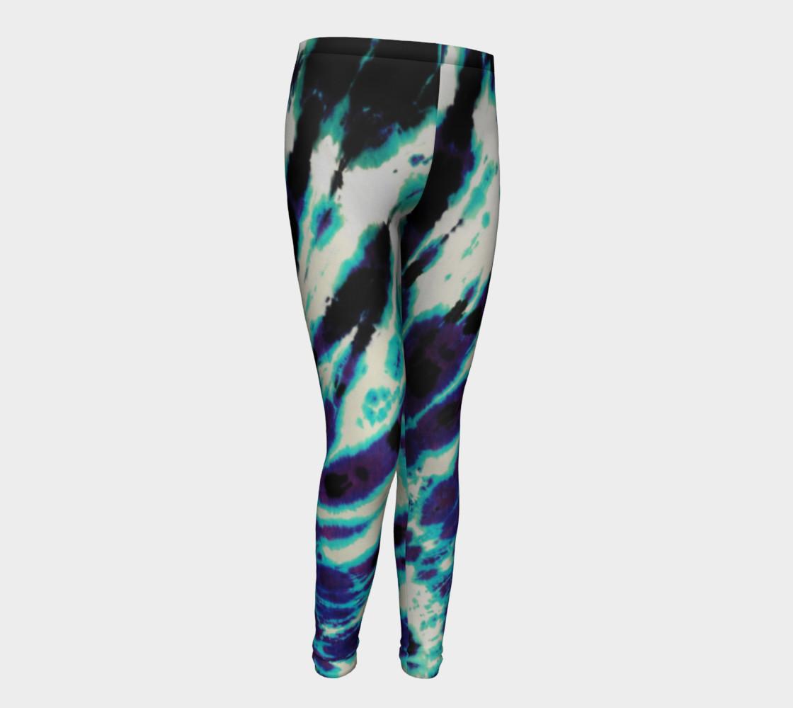 Tie Dye Youth Leggings preview #1