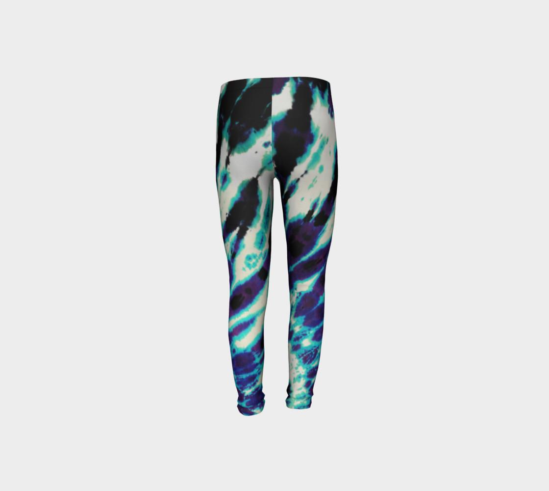 Tie Dye Youth Leggings preview #8